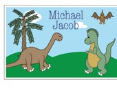 Personalized Dinosaur Placemat, Custom, Dinner Time, Gift, Gift Set, Holidays, Presents