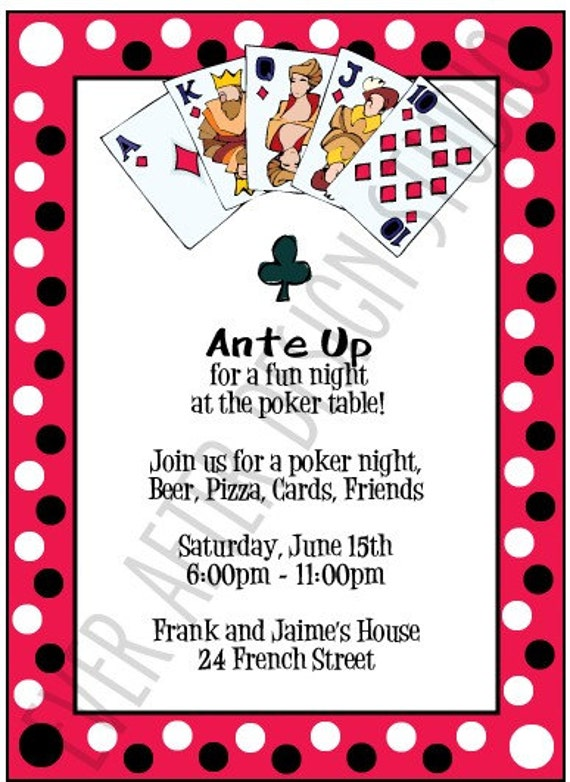 Items Similar To Poker Night Party Invitation On Etsy