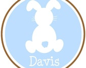 Personalized Boy Bunny Easter Tee...Choose your favorite colors