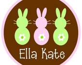 NEW...Personalized Three Little Girl Bunnies Short Sleeved Tshirt- The Ella Kate Design