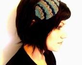 30% OFF SALE - Deep Sea Blue - Woodland Owl Wing Headband - Made to order
