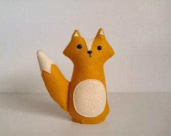 Stuffed toy fox, plush fox, fox plushie, fox softie, gift idea for kids, Fletcher the fox