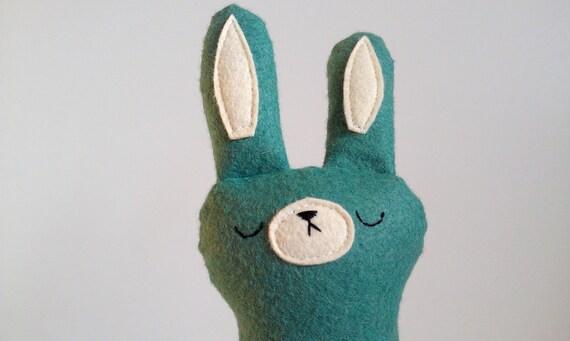 READY TO SHIP - handmade sleepy woodland spring bunny plush, Olivia, Easter bunny