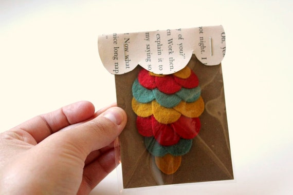 circus - woodland owl wing hair clip - made to order by sleepy king