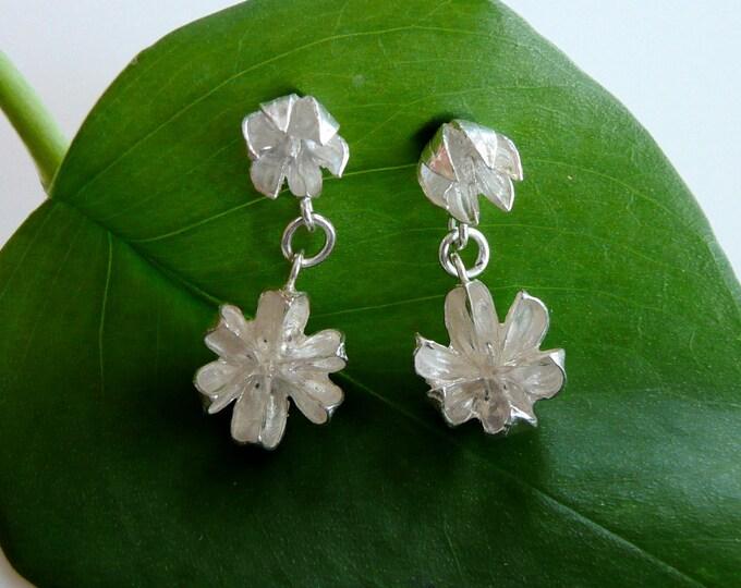 Sterling Silver Double Seed Pod Stud Earrings