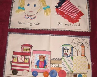 Busy Book Childrens Interactive Quiet Books Activity