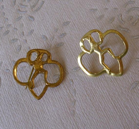 Two Vintage Brownie Pins