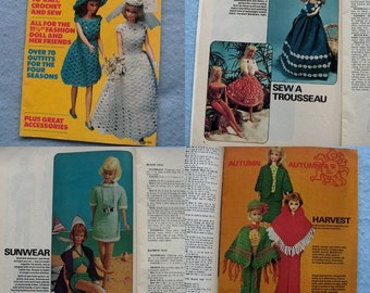 Vintage 1964 knitting crochet sewing patterns Fashions for 11 1/2 inch dolls  (BARBIE) McCall's vol. 1 over 70 OUTFTS plus ACCESSORIES