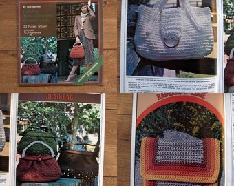 1978 Crochet patterns CROCHET PURSES 23 designs