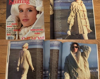 Vintage 80s Knitting patterns book VOGUE KNITTING Autumn/Winter 1986/87