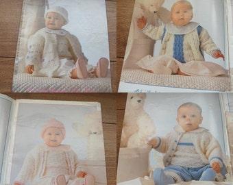 Vintage Anny Blatt knitting patterns Baby LAYETTE
