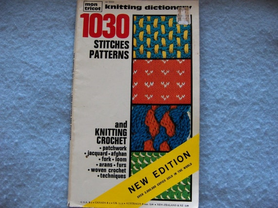 Crocheting Urban Dictionary : ... MON TRICOT KNITTING DICTIONARY 1030 KNITTING CROCHET STITCHES PATTERNS