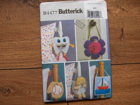 2005 Butterick Sewing Pattern 4477 Tooth Fairy Pillows 5