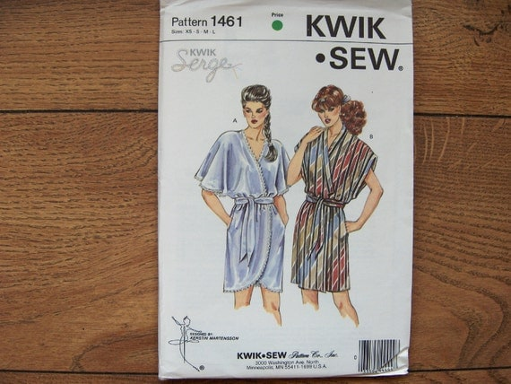 Vintage 80s Kwik Sew pattern 1461 Misses ROBE sz XS-L uncut