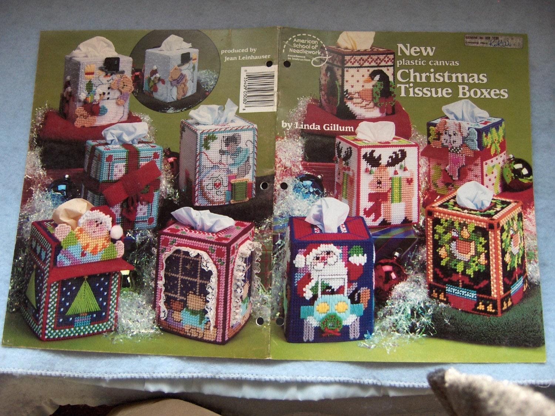 Plastic Canvas Pattern Christmas Tissue Boxes 7 Mesh 10
