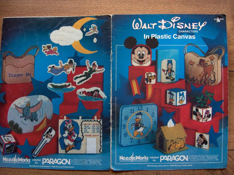 Vintage 1982 Plastic Canvas Pattern Walt Disney Characters