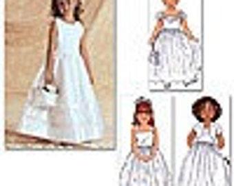 Butterick 3351 Flower Girl Formal Dress and Jacket  Size 2-3-4-5