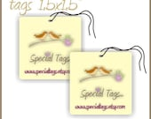 210 Custom Hang Tags - 1.5x1.5inch - Personalized