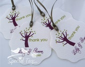 Wedding Tags - Personalized 2.25inch Circle Tags with Wavy Edges - 200 tags - Thank You Tags - Bridal Shower Tags - Favor Tags