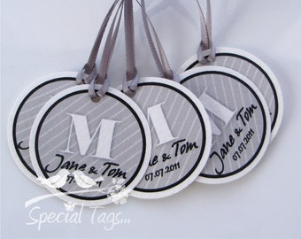 Wedding favor Tags - Personalized 1.5inch Circle Tags - 150 tags - Thank You Tags - Custom Wedding Tags - Bridal Shower Tags
