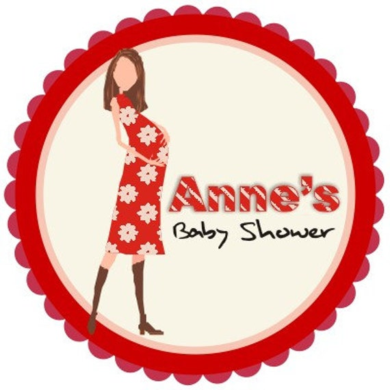 Personalized Circle Stickers - 3 sheets - Thank You Tag - Envelope Seal - Baby Shower - Address Labels