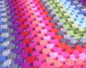 RESERVED FOR MICHELLE Sprinkles Crocheted Afghan Blanket- Ready to ship