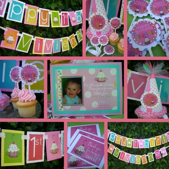 Cupcake Cutie - Custom Party Package