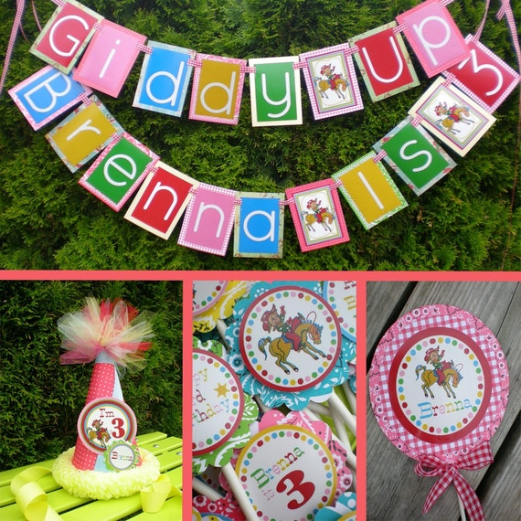 Cowgirl Birthday Party Decorations Fully Assembled