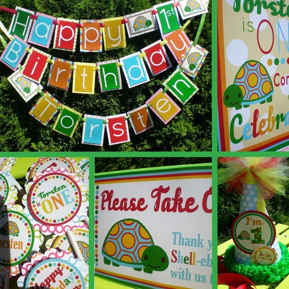 Turtle Birthday Party Decorations Shell-ebration Fully Assembled