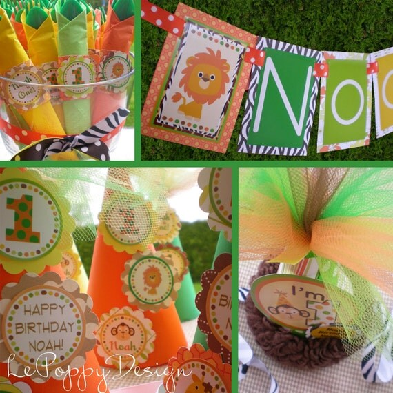 Safari Birthday Party Decorations Package By