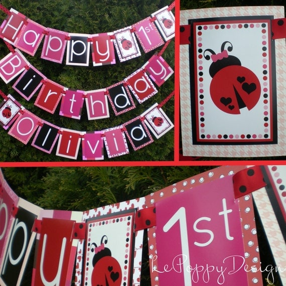Lady Bug Birthday Party Decorations Package Fully Assembled