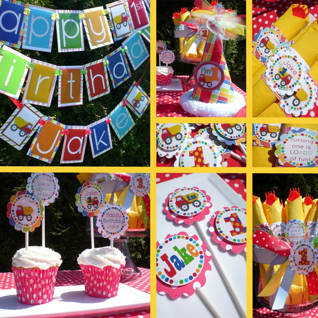 Construction Birthday Party Decorations Similiar Dump Truck Birthday Theme Ideas Keywords