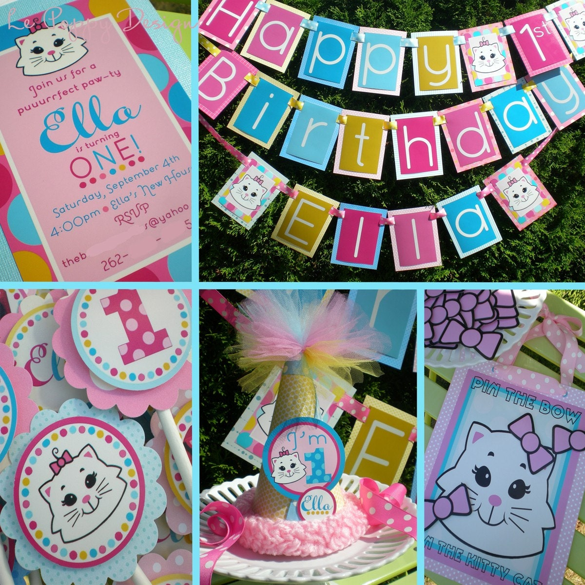 Kitty Cat Birthday Party Decorations Package By