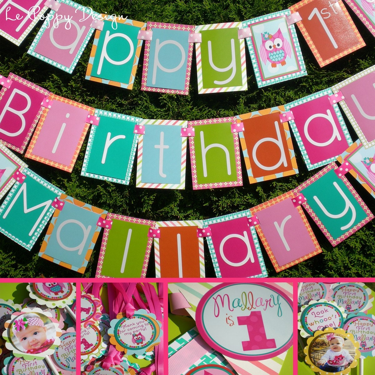 Owl Birthday Party Decorations Package Look By