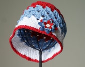 Red, White, and Blue Cloche
