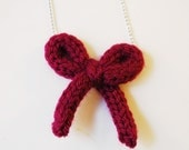 Ready to Ship // Bow Necklace in Magenta