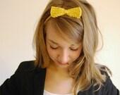 Bow Headband in Mustard Yellow