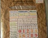61 Calendar Acrylic Stamp set