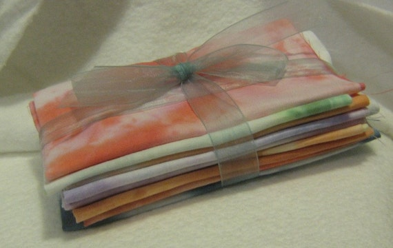 Hand dyed Cotton fabric - 8 x 8 sqaures