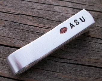 Are You Ready For Some Football -  Aluminum Tie Bar / Tie Clip - College, Professional, Local Teams - Groomsman Gift - Personalized