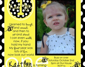 Bee First Birthday