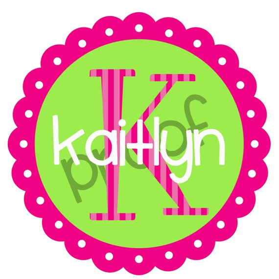 Printable Personalized  Iron on Transfer or Sticker Design