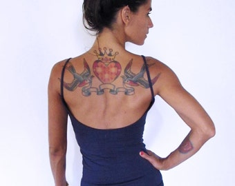 Yoga tank with low back. Yoga top - fitness wear - yoga clothes. Burgundy,teal,plum,grey,black. Size SM and ML