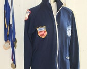 Swim Team Champ - 1972-74 Swim Jacket - Cool Patches - Girls Swim League - White Stag Speedo