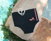 Whale -of-A-Time - Circa 40-50's Men's Swim Trunks - Mad Men Style