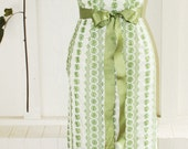 Belle of B.S.   - Circa 1950's- 1960's - Embroidered Eyelet - Wiggle Dress - Olive - Wedding