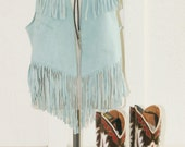 Hang 'Em High - Rockabilly - Cowgirl - Hippie Girl - Bohemian - Suede Leather Fringed Vest