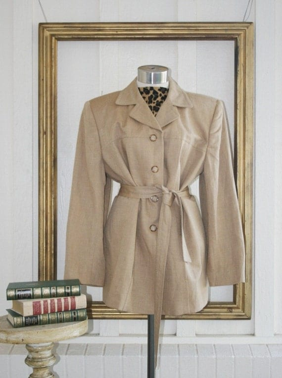 Law and Order - Linen Jacket Circa 1980's - by Jones of New York