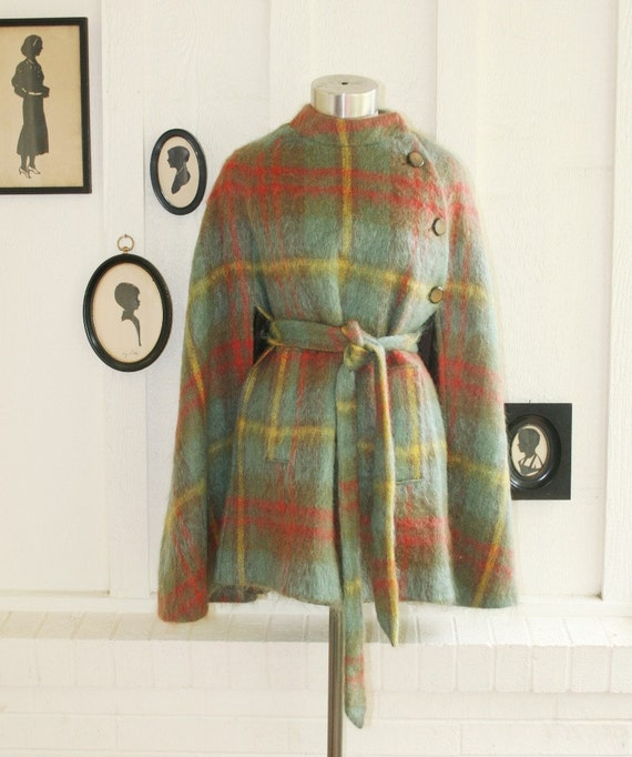 Covert Agent - 1950-60's Mohair Cape - by Kinloch Anderson - Scotland - Pair Me With Skinny jeans and riding boots