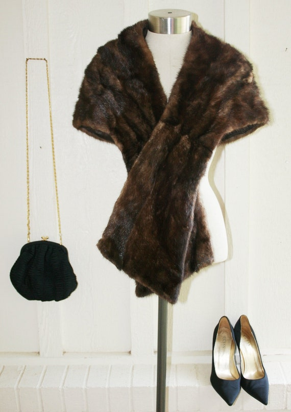 le Petite Mink - Mid Century Mink Shrug - Jackie O - Mid Century Modern - Mad Men Style - Fall Winter Wedding